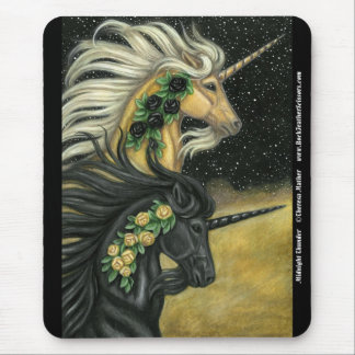 Midnight Thunder Unicorn Mousepad
