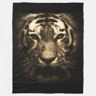 Midnight Tiger Fleece Blanket