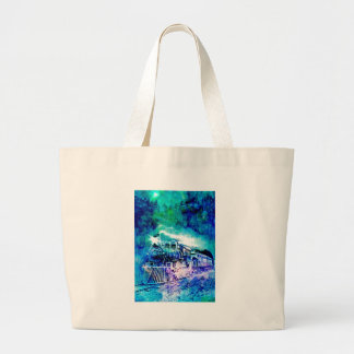 MIDNIGHT TRAIN LARGE TOTE BAG