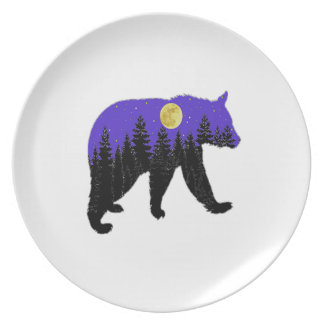 Midnight Walk Dinner Plate