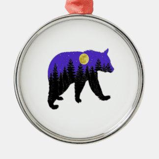 Midnight Walk Metal Ornament