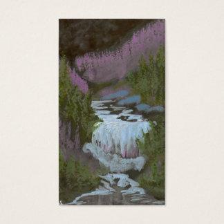 Midnight Waterfall Business Card