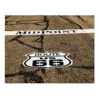 Midpoint Route 66 Sign - Adrian, Texas Postcard