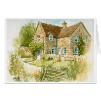 Midsummer Cottage Greeting Card