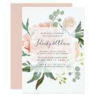 Midsummer Floral Engagement Party Invitation