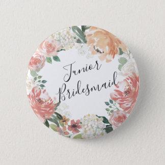Midsummer Floral Junior Bridesmaid 2 Inch Round Button