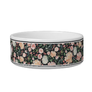 Midsummer Floral | Personalized Dog Bowl