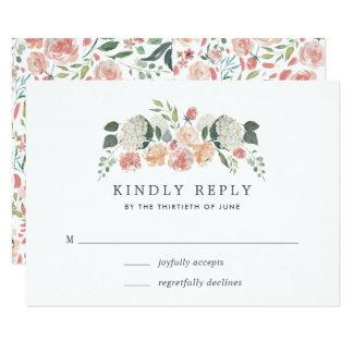 Midsummer Floral RSVP Card