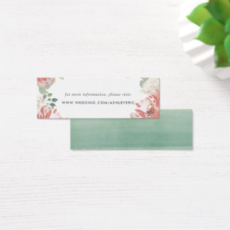 Midsummer Floral Wedding Website Insert Cards