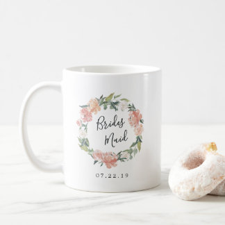 Midsummer Floral Wreath Bridesmaid Coffee Mug