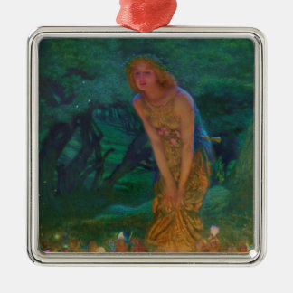 Midsummer Night Dream Fairy Circle Metal Ornament