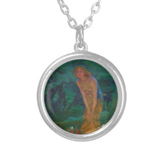 Midsummer Night Dream Fairy Circle Silver Plated Necklace