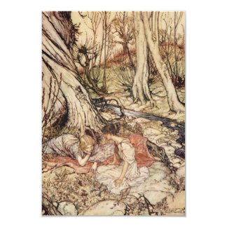 Midsummer Night's Dream Parchment Save the Date Card