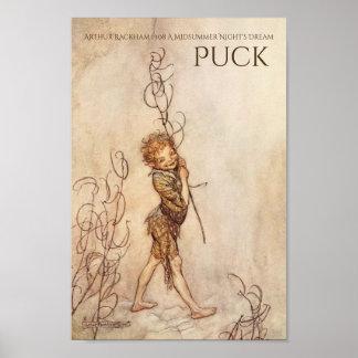 Midsummer Night's Dream Puck Arthur Rackham Poster