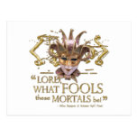 Midsummer Night's Dream Quote (Gold Version) Post Card