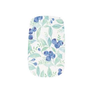Midsummer Rustic Blueberry Berry Summer  Pattern Minx Nail Art