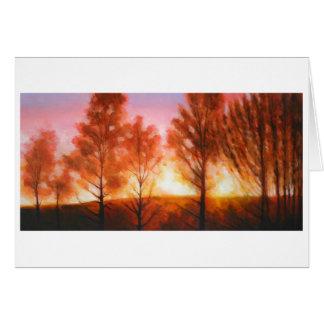 Midsummer Sunset Card