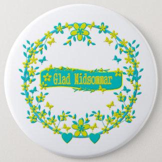 Midsummer symbol sweden 6 inch round button