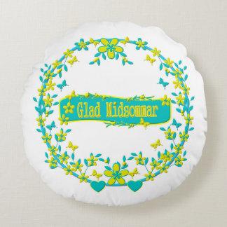 Midsummer symbol sweden round pillow