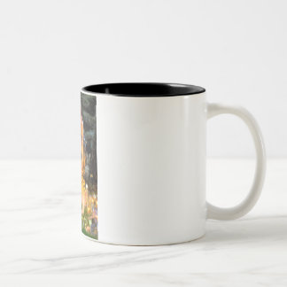 Midsummers Eve - Pembroke Welsh Corgi 7b Two-Tone Coffee Mug