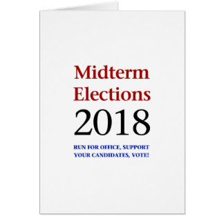 Midterm Elections 2018 Card