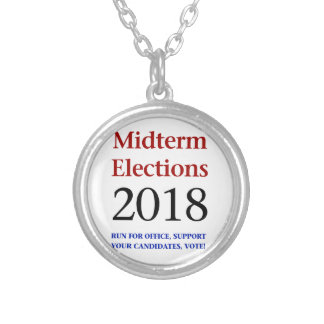 Midterm Elections 2018 Silver Plated Necklace