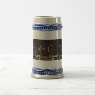 Midtown Manhattan as seen from Weehawken NJ Beer Stein