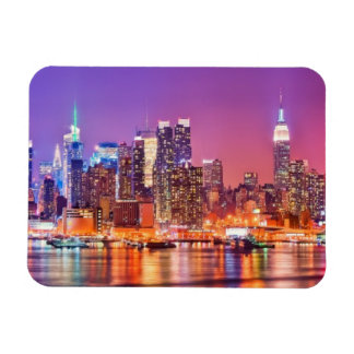 Midtown Manhattan at night with Empire Stae Magnet