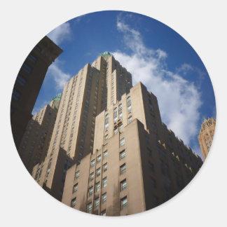Midtown Skyscraper, New York City Round Sticker