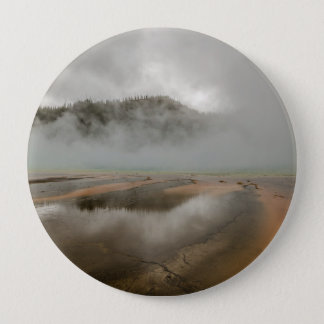 Midway Geyser Basin in Yellowstone National Park 4 Inch Round Button