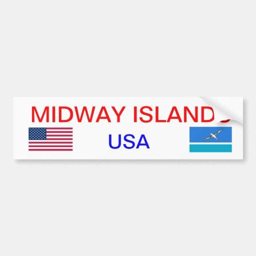Midway* Islands Bumper Sticker  ミッドウェー諸島