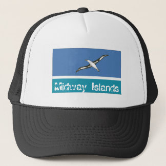 Midway Islands flag trucker mesh souvenir hat