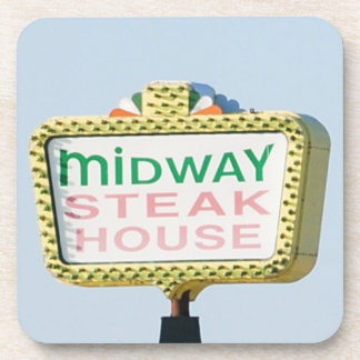 Midway Steakhouse Beverage Coasters
