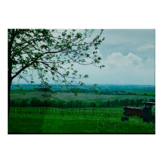 Midwest Farm Landscape in Wisconsin Poster