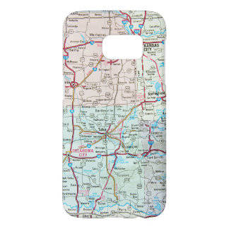 Midwest United States road map Samsung Galaxy S7 Case