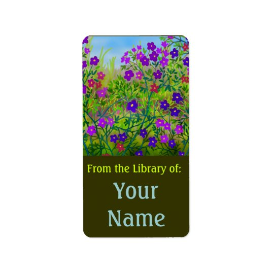 Midwestern Roadside Wildflowers Bookplate Label