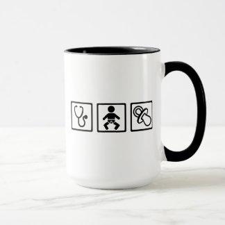 Midwife baby pacifier mug