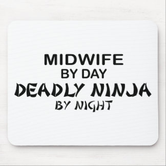 Midwife Deadly Ninja by Night Mouse Pad