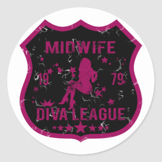 Midwife Diva League Classic Round Sticker