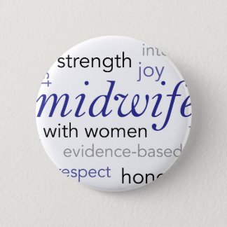 midwife word cloud 2 inch round button