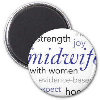 midwife word cloud 2 inch round magnet