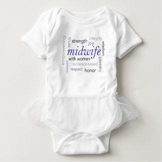 midwife word cloud baby bodysuit