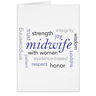 midwife word cloud card