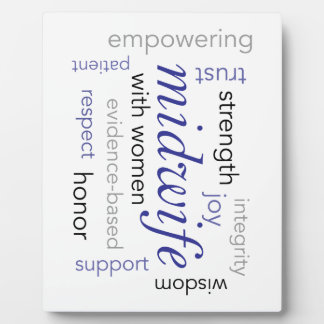 midwife word cloud display plaque