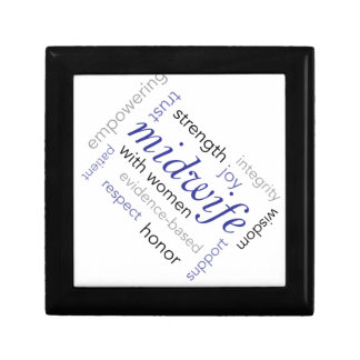 midwife word cloud gift box