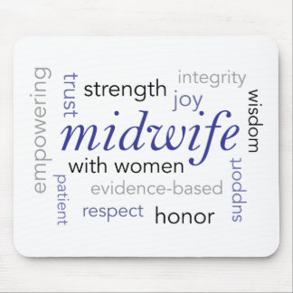 midwife word cloud mouse pad