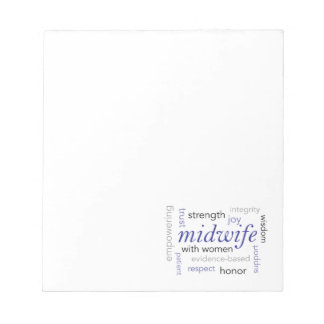 midwife word cloud notepads