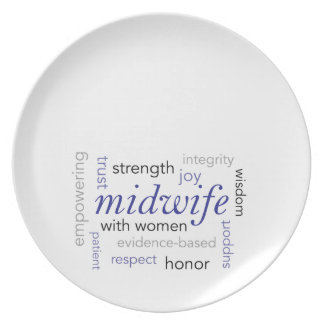 midwife word cloud plate