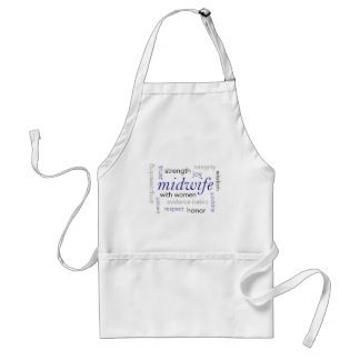 midwife word cloud standard apron