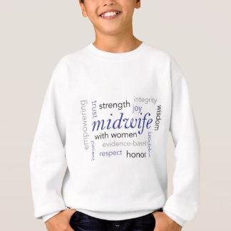 midwife word cloud sweatshirt